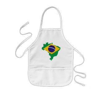 brazil flag map kids apron