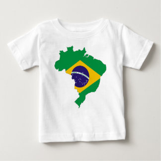 Brazil Flag Map Symbol Brazilian Country Baby T-Shirt