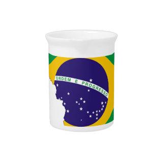Brazil Flag Map Symbol Brazilian Country Pitcher
