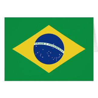 Brazil Flag Notecard Greeting Card