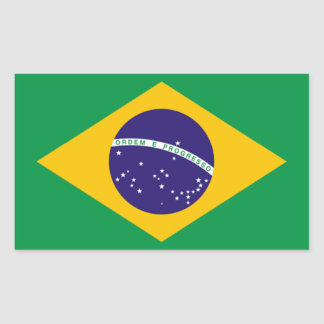 Brazil: Flag of Brazil Rectangular Sticker