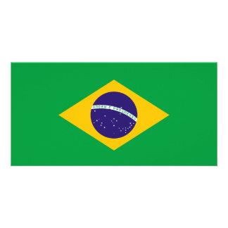 Brazil Flag Photo Card Template
