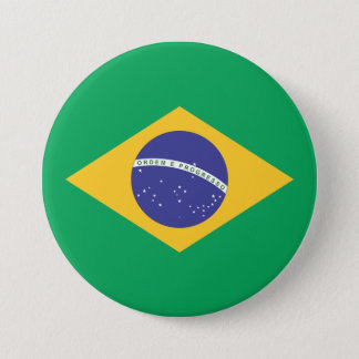 Brazil flag quality 7.5 cm round badge