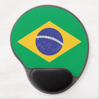 Brazil flag quality gel mouse pad