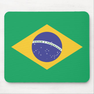 Brazil flag quality mouse pad