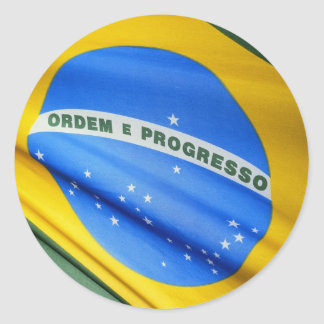 Brazil Flag Round Sticker