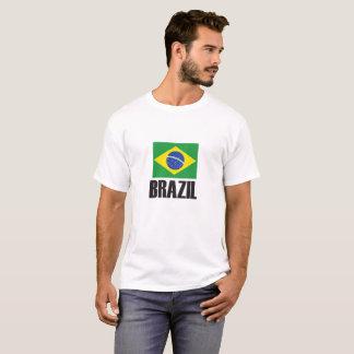 Brazil Flag Simple Bold T-Shirt