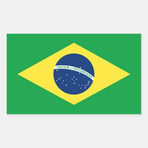 brazil flag rectangular stickers