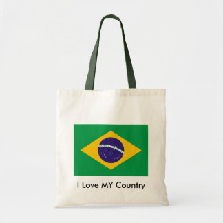 Brazil Flag The MUSEUM Zazzle I Love MY Country Bag