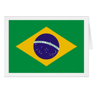 Brazil Flag The MUSEUM Zazzle I Love MY Country Greeting Card