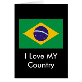 Brazil Flag The MUSEUM Zazzle I Love MY Country Cards