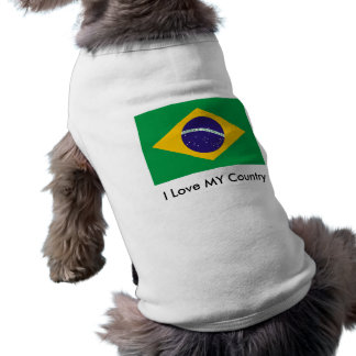Brazil Flag The MUSEUM Zazzle I Love MY Country Doggie Shirt