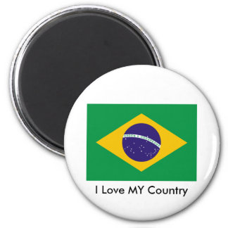 Brazil Flag The MUSEUM Zazzle I Love MY Country Refrigerator Magnets
