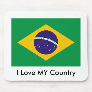 Brazil Flag The MUSEUM Zazzle I Love MY Country Mouse Pad