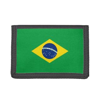 Brazil Flag TriFold Nylon Wallet