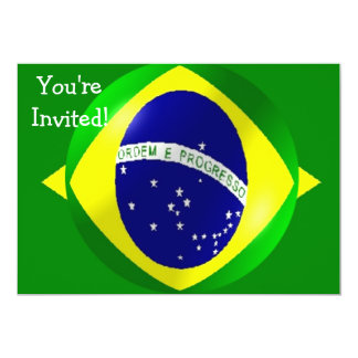 Brazil Flag With Bubble Invitation