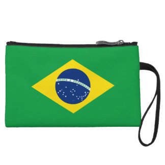Brazil Flag Wristlets Wallet