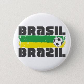 Brazil Futbol 6 Cm Round Badge