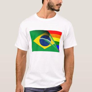 Brazil Gay Pride Rainbow Flag T-Shirt