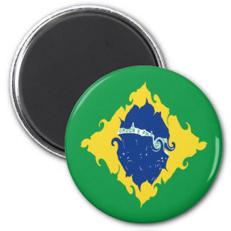 Brazil Gnarly Flag Magnet