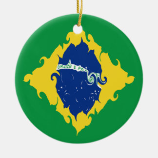 Brazil Gnarly Flag Ornaments