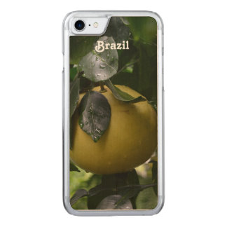 Brazil Grapefruit Carved iPhone 7 Case