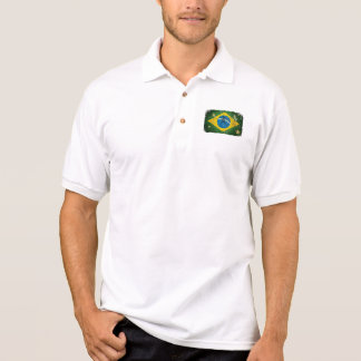 Brazil Grunge flag for Brazilians worldwide Polo Shirt