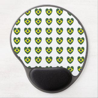 Brazil Heart Gel Mousepad