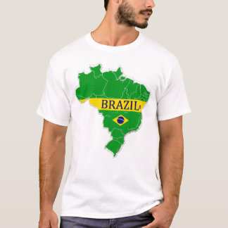 Brazil Map Designer Shirt Apparel Sale Him or Hers