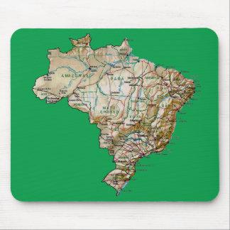 Brazil Map Mousepad