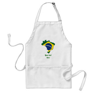 Brazil map standard apron
