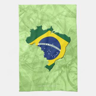 Brazil map tea towel