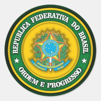 Brazil Medallion 2 Round Sticker