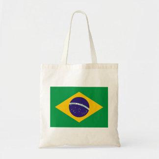 Brazil National Flag Budget Tote Bag