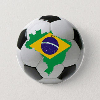 Brazil national team 6 cm round badge