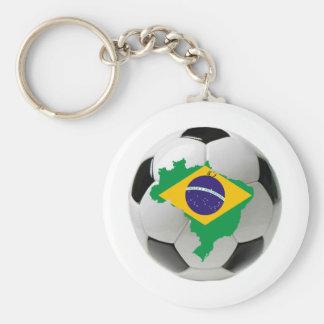 Brazil national team basic round button key ring
