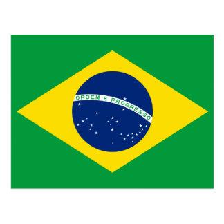 Brazil National World Flag Postcard