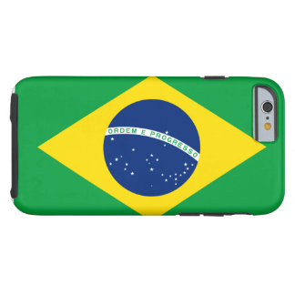 Brazil National World Flag Tough iPhone 6 Case