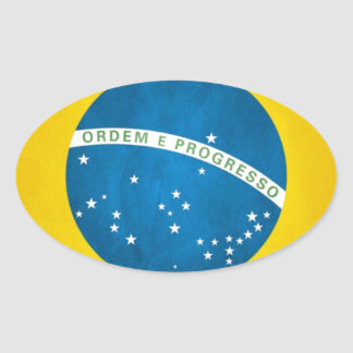 brazil oval sticker