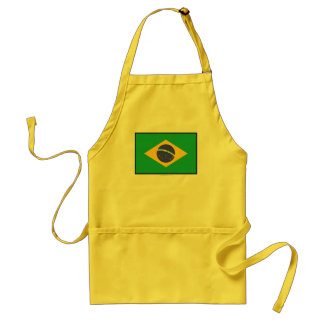 Brazil Plain Flag Standard Apron