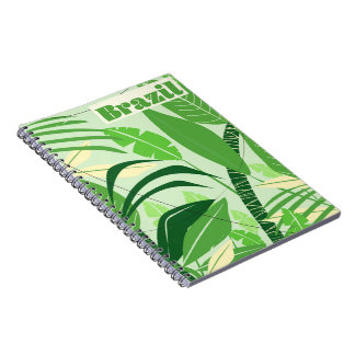 Brazil Rainforest Vintage style vacation print Spiral Notebook