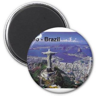 Brazil Rio De Janeiro (St.K.) 6 Cm Round Magnet