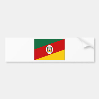 Brazil Rio Grande do Sul Flag Bumper Sticker