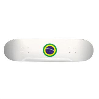 Brazil Round Flag Skate Decks