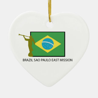 BRAZIL SAO PAULO EAST MISSION LDS CERAMIC HEART DECORATION