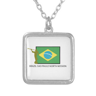 BRAZIL SAO PAULO NORTH MISSION LDS SILVER PLATED NECKLACE