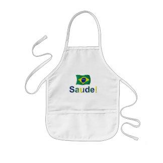 Brazil Saude! Kids Apron