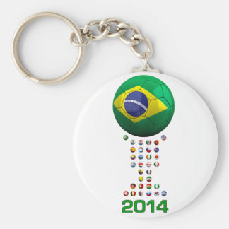 Brazil Soccer  1010 Key Chain
