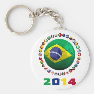Brazil Soccer  2001 Keychain