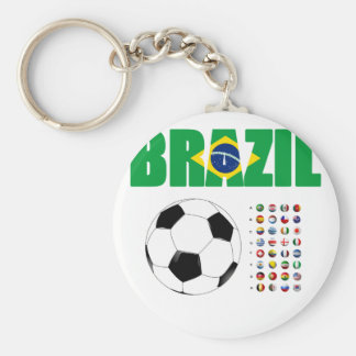 Brazil Soccer 2801 Keychains